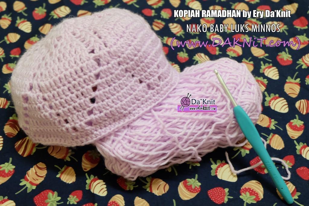 Free Pattern Crochet Kopiah : FREE PATTERN TUTORIAL: KOPIAH RAMADHAN ? Kelas Seni Mengait